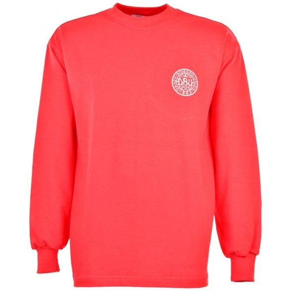 Denmark football retro shirt 1960s. European Championship debut