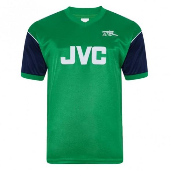 Arsenal 1982 away vintage football shirt green