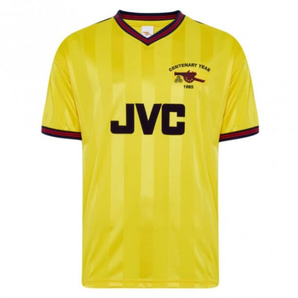 Arsenal 1985-86 Away Centenary vintage football shirt