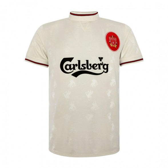Liverpool FC 1996-97 away vintage football white shirt