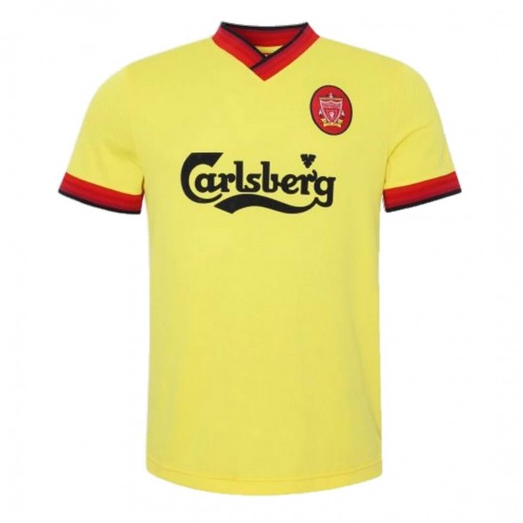 Liverpool FC 1997-98 away vintage football yellow shirt