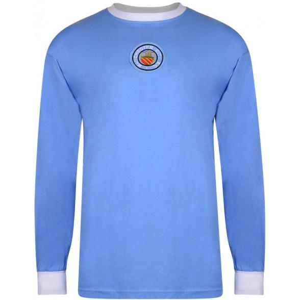 Manchester City 1970 Retro Shirt - Long Sleeve