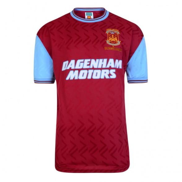 West Ham 1994 vintage football shirt. Bobby Moore Memorial Match 7/03/1994.