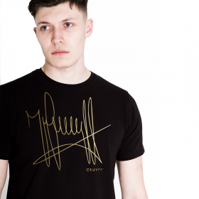 T-shirt Cruyff Signature Black / Gold