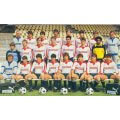 Photo d'époque de l'équipe LOSC avec le Maillot vintage Lille OSC années 80. Coiffures et mode sport vintage années 80.