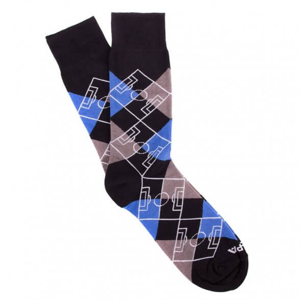 Argyle Pitch / Black -  Grey - Blue - White