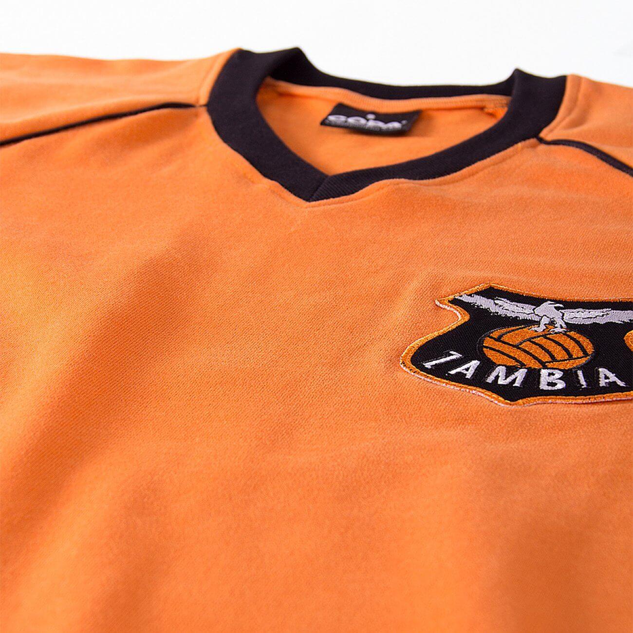 e1e01d7a1 Zambia Vintage football shirt 1980's   Retrofootball®