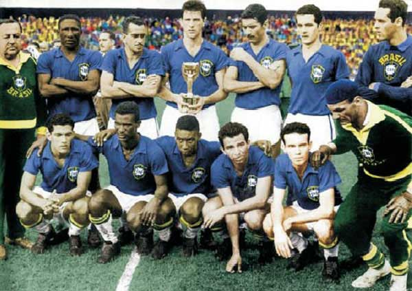 Brazil champion World-Cup 1958 Sweden
