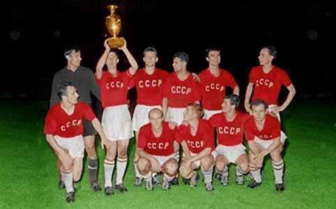 CCCP URSS Team in the pitch European Cup 1960 football shirt