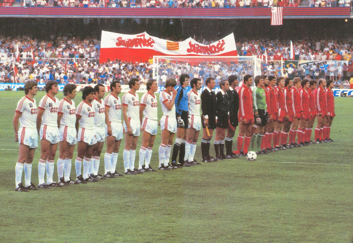 CCCP WC 1982 team with white shirt