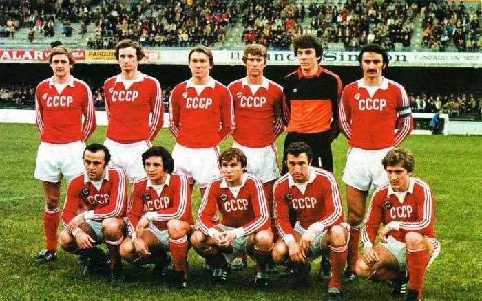Retro CCCP 1980 shirt, the Soviet Union team during the World Cup 1982