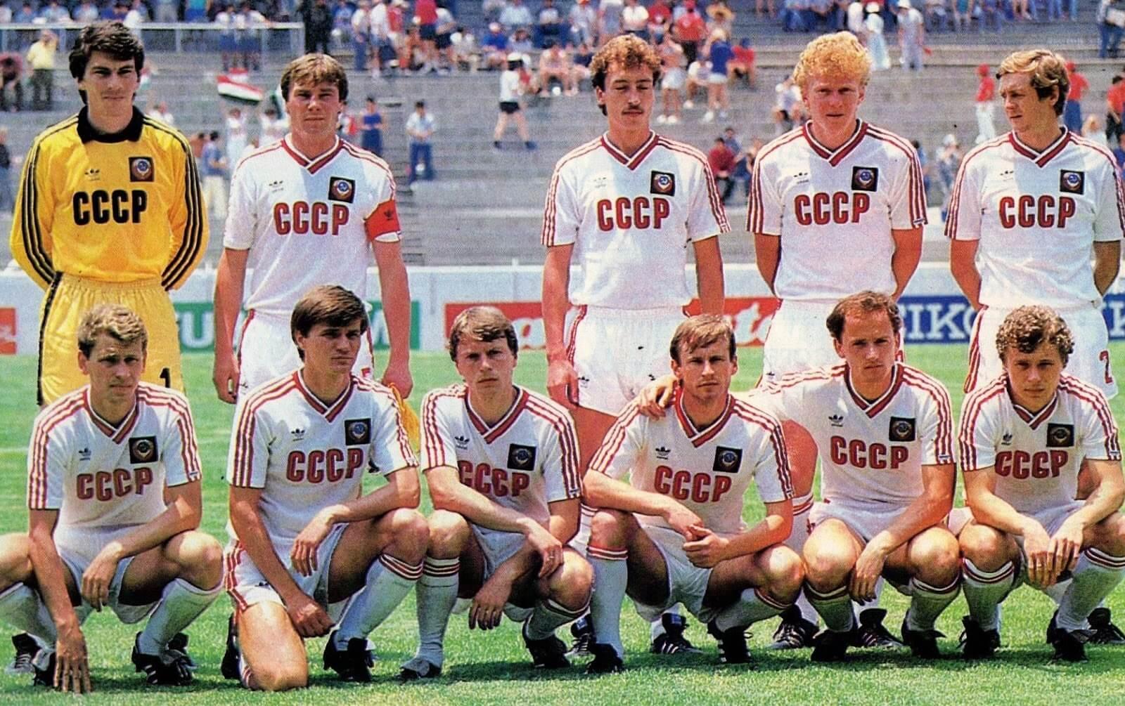 Equipo y camiseta de la URSS 1986