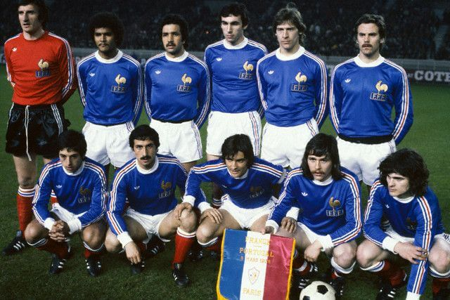 France football team from the 70s