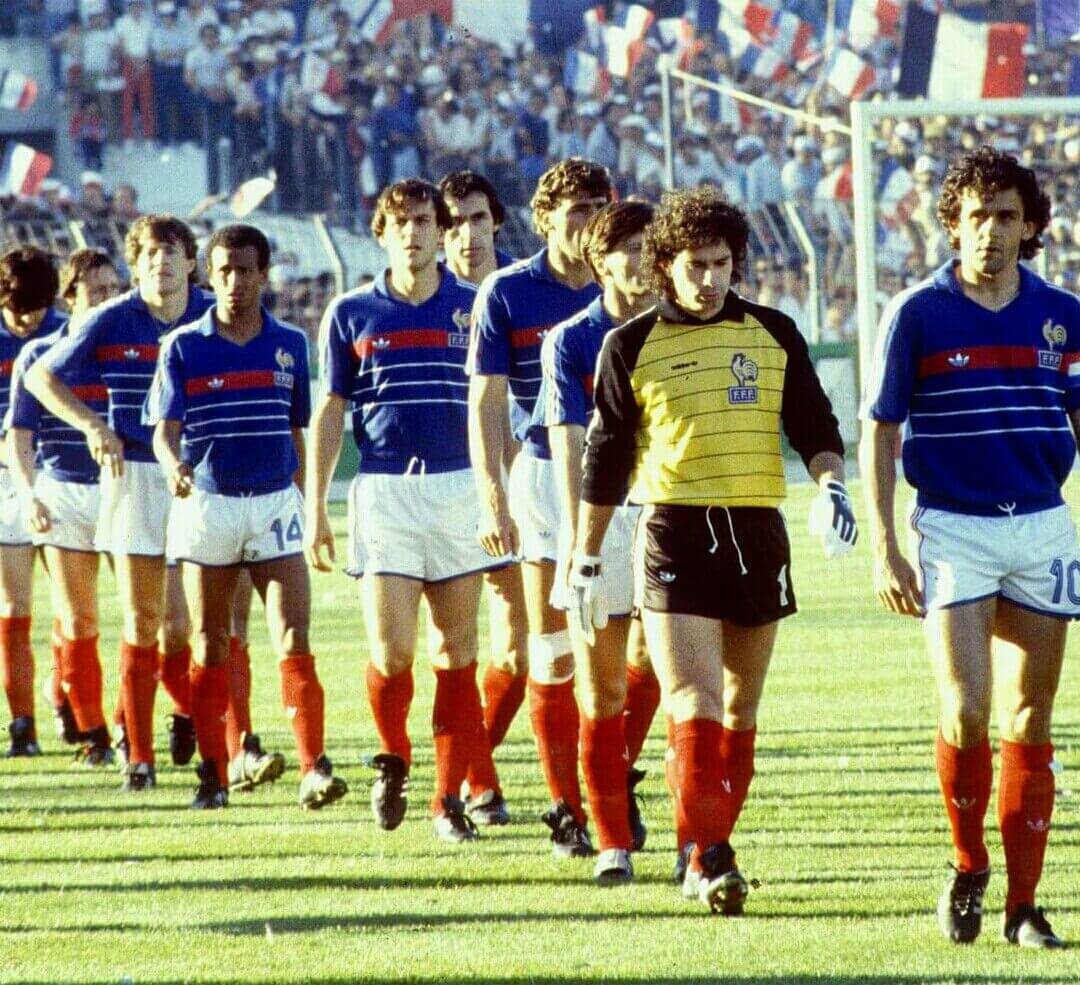 French Football squad 1984 with Platini