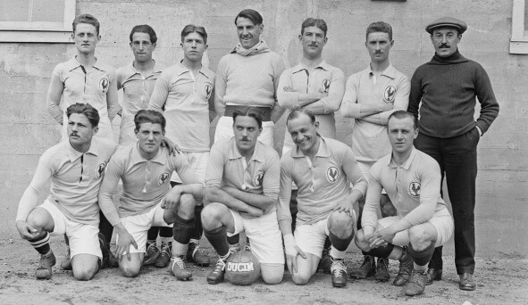 France football team in the 1920s