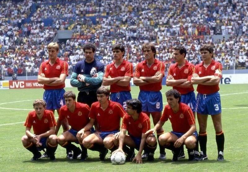 Spain retro football shirt