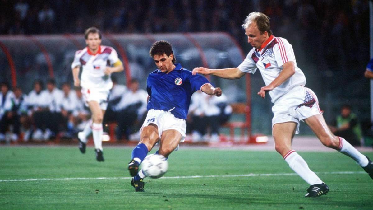 Italia '90: Baggio's Czechoslovakia goal