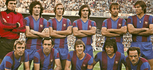FC Barcelona in the 70's with Cruyff