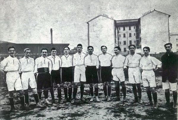 The first italian national football team in 1910