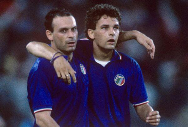 Baggio and Schillaci at 1990 World Cup in Italy