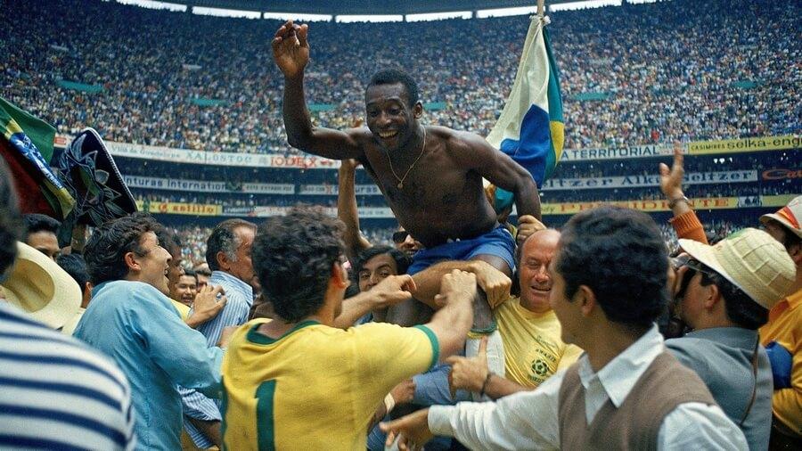 Pele Brasil Champions World Cup 1970