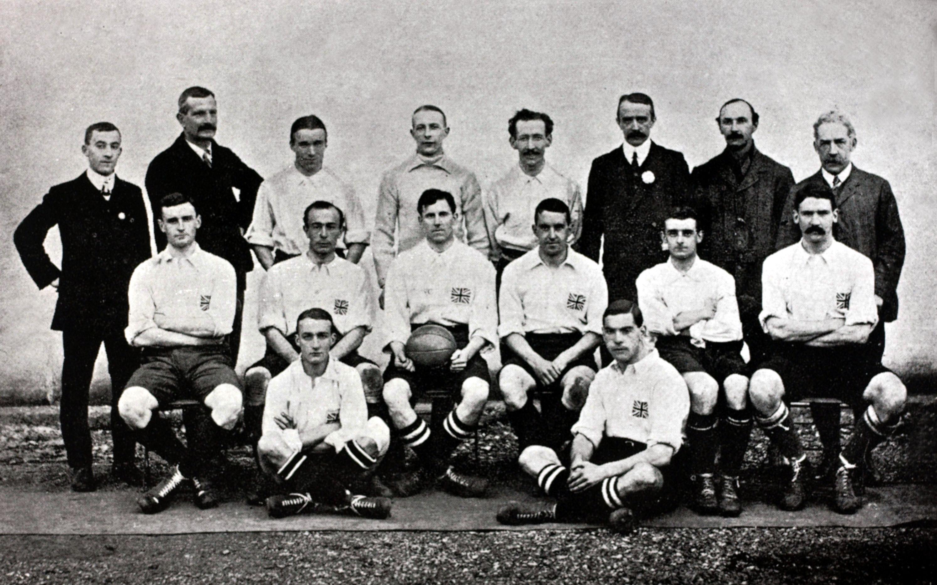 Selección de Inglaterra 1908