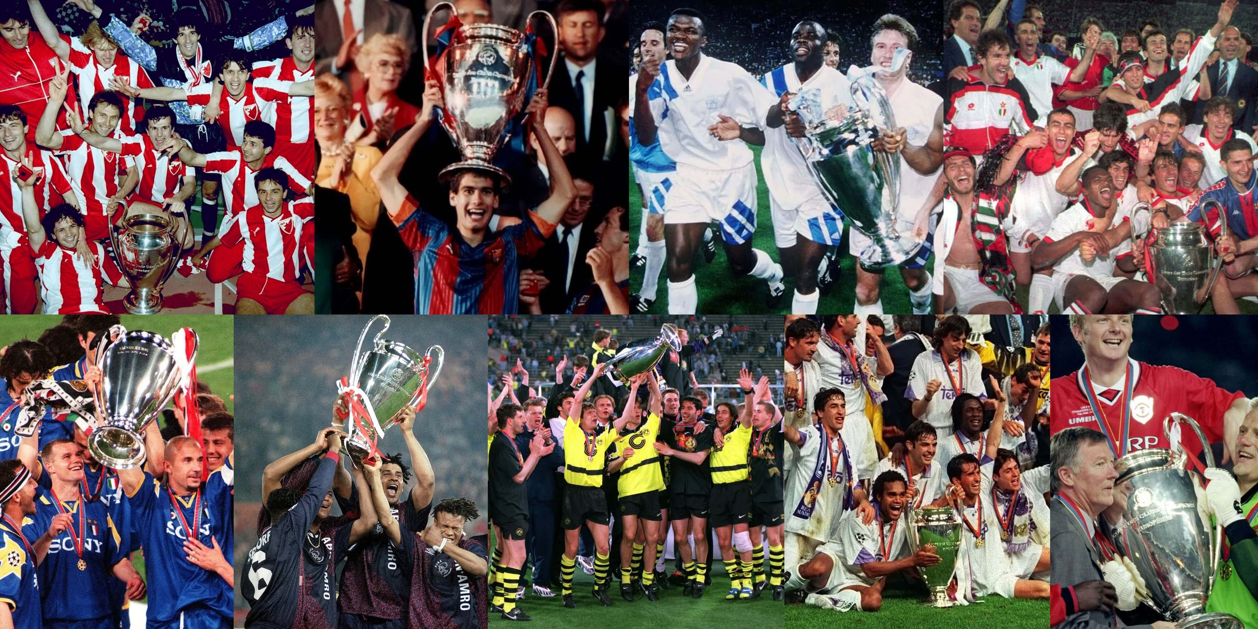 Champions League winners 1990s